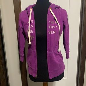 American Eagle Outfitters Purple Hoodie